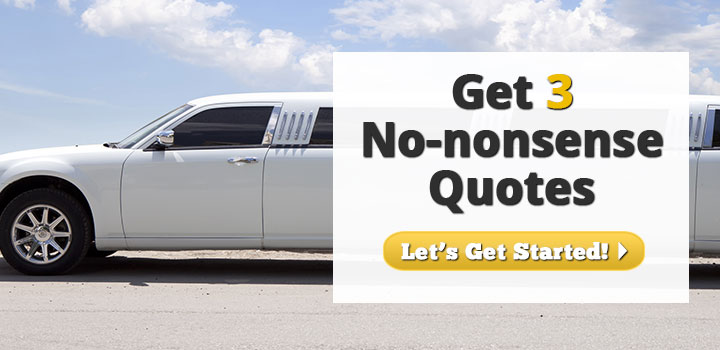 Get 3 No-Nonsense Limousine Insurance Quotes